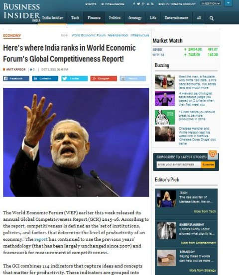Here's where India ranks in World Economic Forum's Global Competitiveness Report!