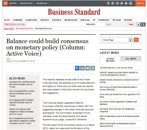 Balance could build consensus on monetary policy