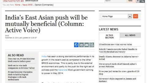 India's East Asian push will be mutually beneficial