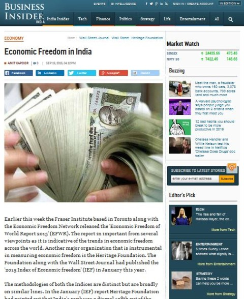 Economic Freedom in India
