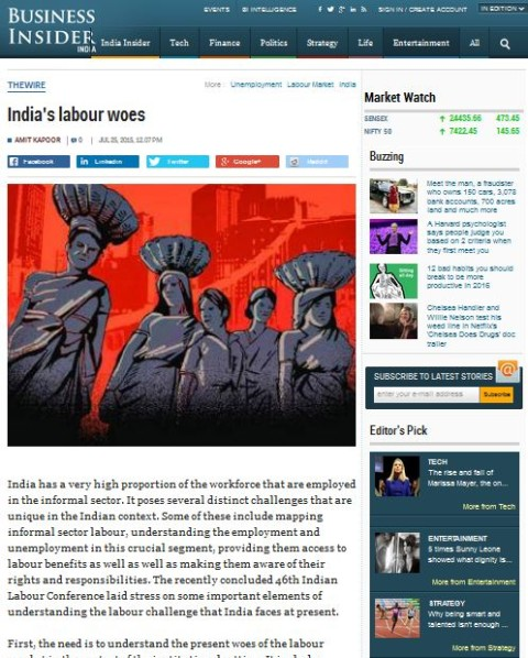 India's labour woes