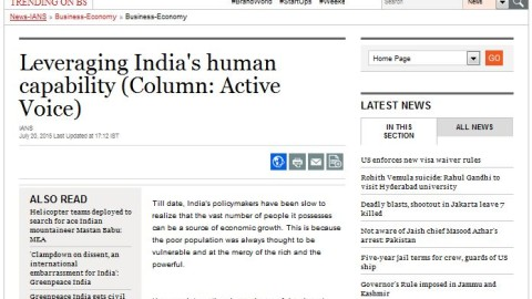 Leveraging India's human capability