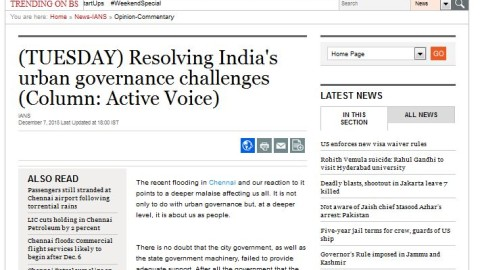 Resolving India's urban governance challenges