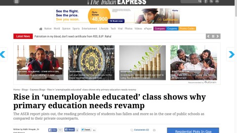Rise in 'unemployable educated' class shows why primary education needs revamp