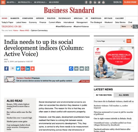 India needs to up its social development indices