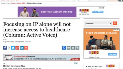 Focusing on IP alone will not increase access to healthcare
