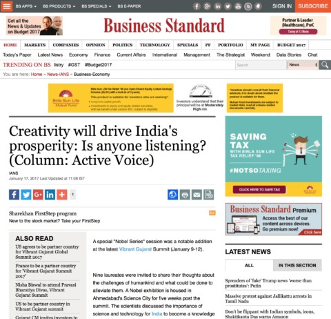 Creativity will drive India's prosperity: Is anyone listening?