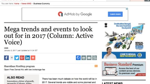Mega trends and events to look out for in 2017