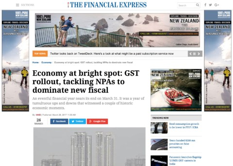 GST rollout, tackling NPAs to dominate new fiscal
