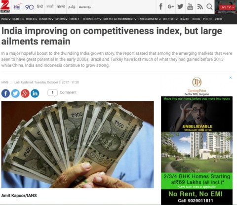 India improving on competitiveness index, but large ailments remain