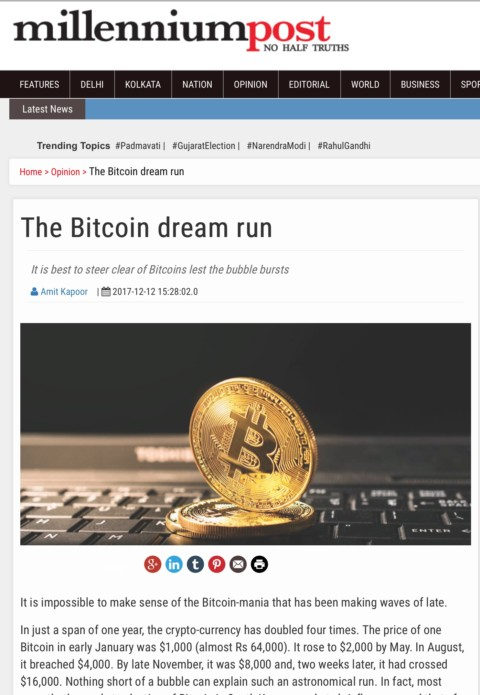 It's best to steer clear of Bitcoins lest the bubble bursts