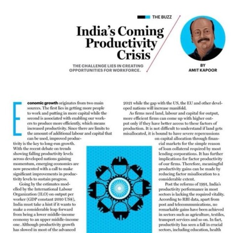 India's Coming Productivity Crisis