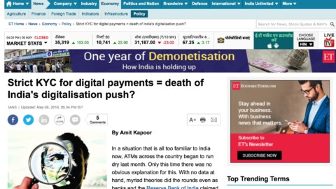 Strict KYC for digital payments = death of India's digitalisation push?