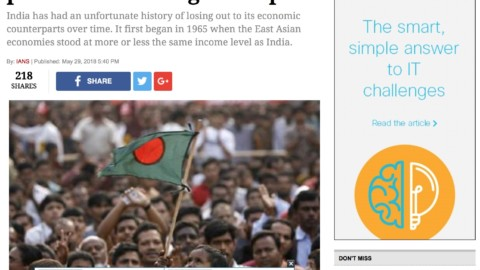 Bangladesh could well march past India on the growthpath