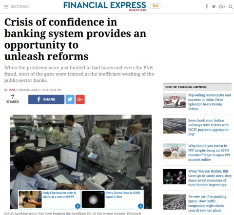 Crisis of confidence in banking system provides an opportunity to unleash reforms
