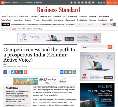 Competitiveness and the path to a prosperous India