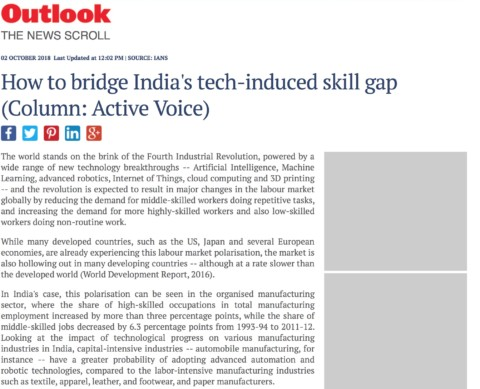 How to bridge India's tech-induced skill gap