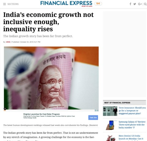 India's economic growth not inclusive enough, inequality rises