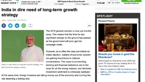 India in dire need of long-term growth strategy
