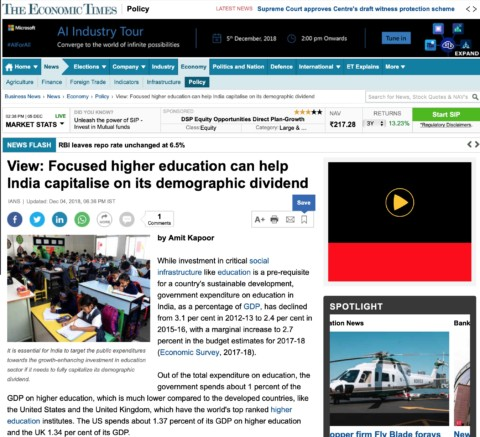 Focused higher education can help India capitalise on its demographic dividend
