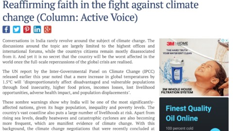 Reaffirming Faith in the Fight Against Climate Change
