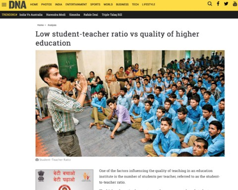 Low student-teacher ratio vs quality of higher education