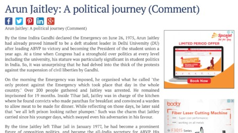 Arun Jaitley: A political journey
