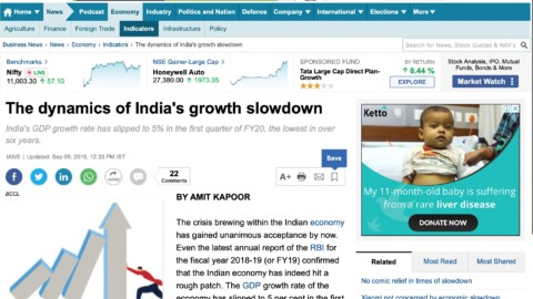 The Dynamics of India's Growth Recession