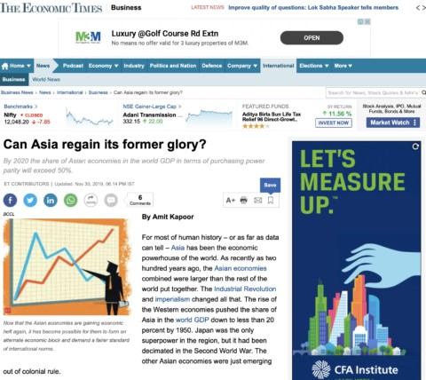 Can Asia regain its former glory?