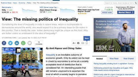 The Missing Politics of Inequality
